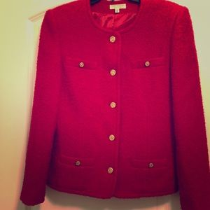 Brooks Brothers Womens Red Blazer Size 8